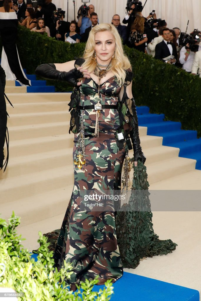 Madonna attends 'Rei Kawakubo/Commes Des Garcons: Art of the In-Between' at Metropolitan Museum of Art on May 1, 2017 in New York City.