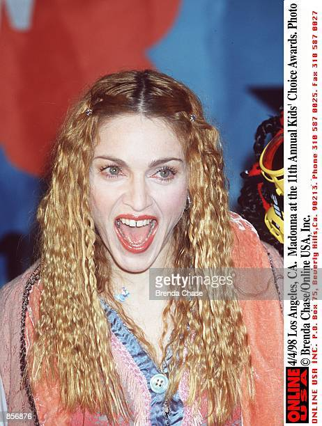 Madonna attends the 11th Annual Nickelodeon Kids'' Choice Awards April 4 1998 in Los Angeles CA