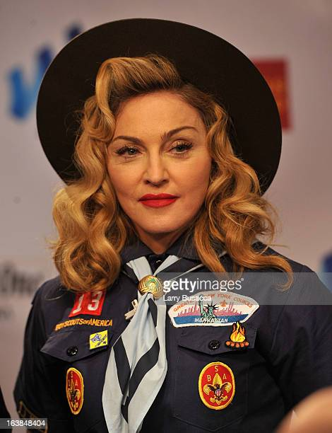 Madonna attends the 24th Annual GLAAD Media Awards on March 16 2013 in New York City