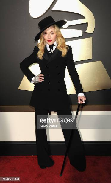 Madonna attends the 56th GRAMMY Awards at Staples Center on January 26 2014 in Los Angeles California