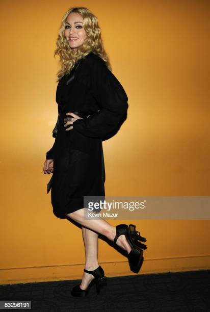 Madonna attends The Cinema Society and Dolce and Gabbana Host A Screening of Filth and Wisdom at Landmark Sunshine Theater on October 13 2008 in New...