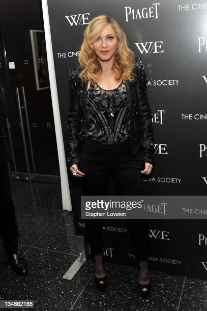 Madonna attends the Cinema Society Piaget screening of WE at The Museum of Modern Art on December 4 2011 in New York City