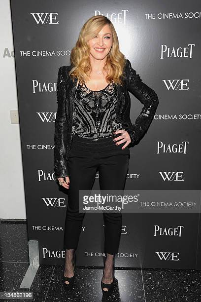 Madonna attends the Cinema Society Piaget screening of 'WE' at The Museum of Modern Art on December 4 2011 in New York City