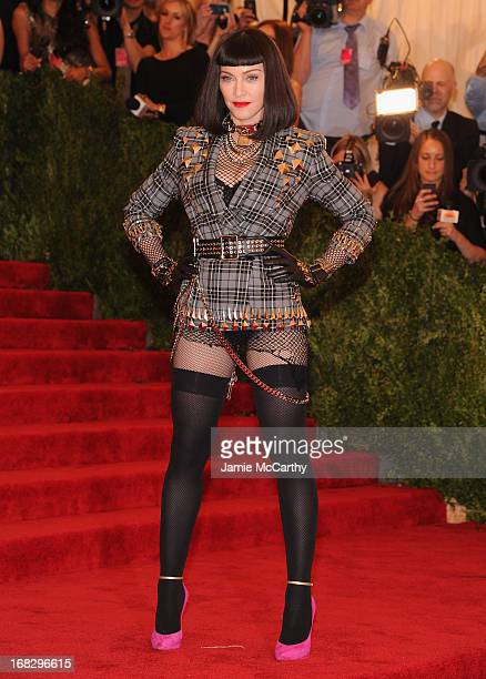 Madonna attends the Costume Institute Gala for the PUNK Chaos to Couture exhibition at the Metropolitan Museum of Art on May 6 2013 in New York City
