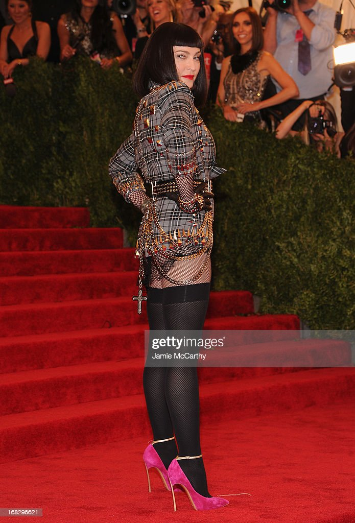 Madonna attends the Costume Institute Gala for the 'PUNK: Chaos to Couture' exhibition at the Metropolitan Museum of Art on May 6, 2013 in New York City.