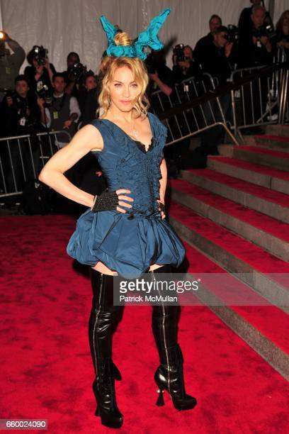 Madonna attends THE COSTUME INSTITUTE GALA The Model As Muse with Honorary Chair MARC JACOBS ARRIVALS at The Metropolitan Museum of Art on May 4 2009...