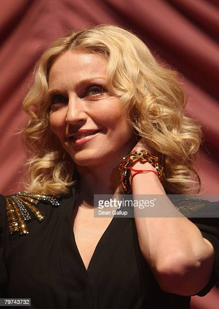 Madonna attends the 'Filth and Wisdom' Premiere as part of the 58th Berlinale Film Festival at the Zoo Palace on February 13 2008 in Berlin Germany