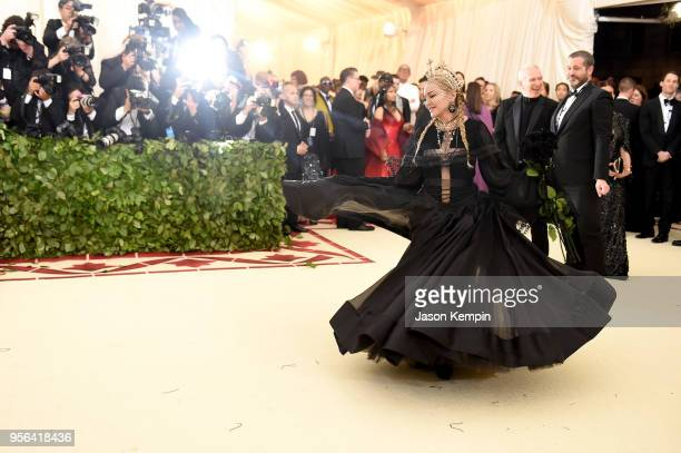 Madonna attends the Heavenly Bodies Fashion The Catholic Imagination Costume Institute Gala at The Metropolitan Museum of Art on May 7 2018 in New...