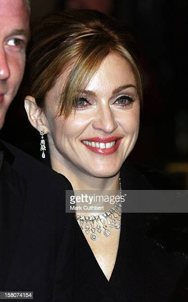 """Madonna Attends The James Bond """"Die Another Day"""" Royal World Premiere At London'S Royal Albert Hall. ."""