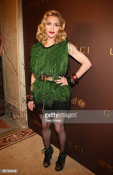 Madonna attends the launch of the Tattoo Heart Collection to Benefit UNICEF dinner at The Plaza on November 19 2008 in New York City