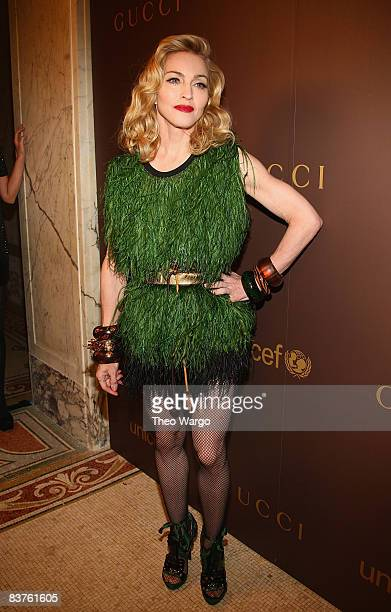 Madonna attends the launch of the Tattoo Heart Collection to Benefit UNICEF dinner at The Plaza on November 19, 2008 in New York City.