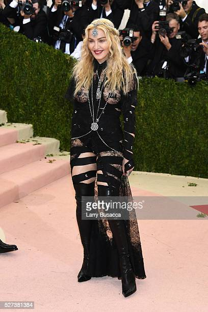 Madonna attends the 'Manus x Machina Fashion In An Age Of Technology' Costume Institute Gala at Metropolitan Museum of Art on May 2 2016 in New York...