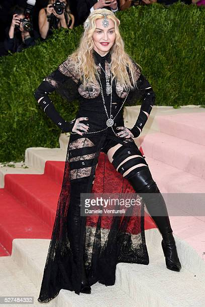 """Madonna attends the """"Manus x Machina: Fashion In An Age Of Technology"""" Costume Institute Gala at Metropolitan Museum of Art on May 2, 2016 in New..."""