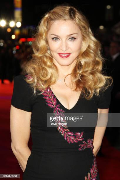 Madonna attends the premiere for 'WE' at The 55th BFI London Film Festival at The Empire Leicester Square on October 23 2011 in London United Kingdom