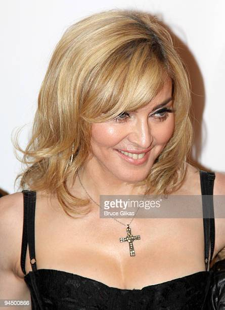 Madonna attends the premiere of Nine at the Ziegfeld Theatre on December 15 2009 in New York City