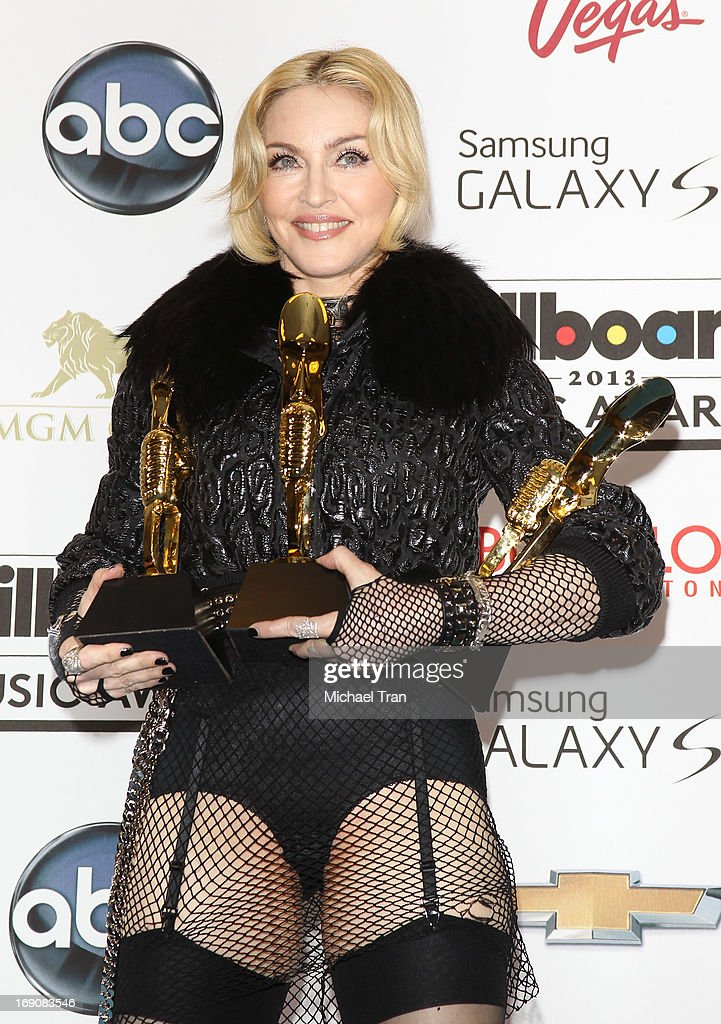 Madonna attends the press room at the 2013 Billboard Music Awards held at MGM Grand Resort and Casino on May 19, 2013 in Las Vegas, Nevada.