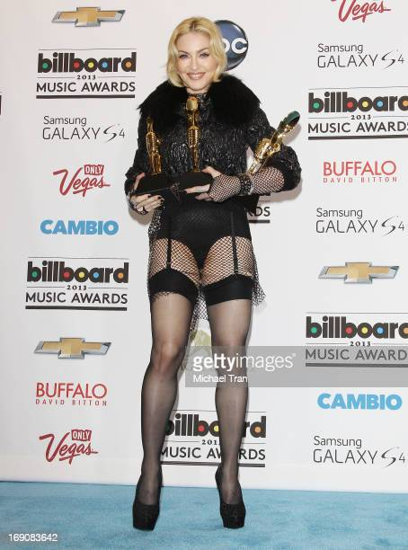 Madonna attends the press room at the 2013 Billboard Music Awards held at MGM Grand Resort and Casino on May 19 2013 in Las Vegas Nevada