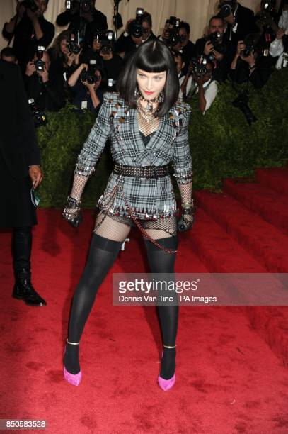 Madonna attends the 'Punk' Chaos to Couture' Costume Institute Benefit Met Gala at the Metropolitan Museum in New York