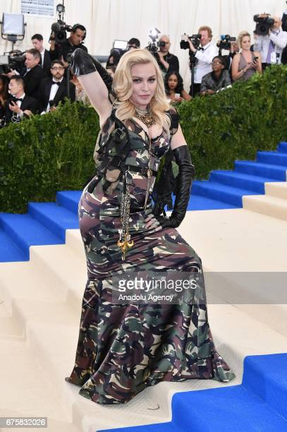 Madonna attends the 'Rei Kawakubo / Comme des Garcons Art Of The InBetween' Costume Institute Gala 2017 at Metropolitan Museum of Art in New York...
