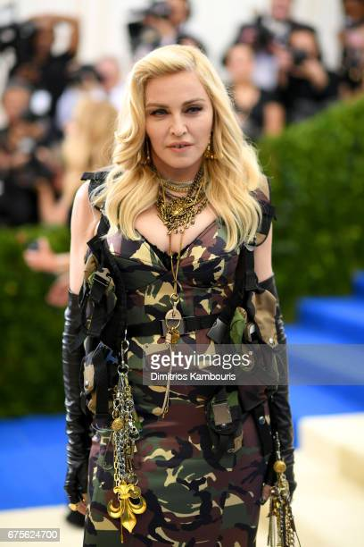 Madonna attends the Rei Kawakubo/Comme des Garcons Art Of The InBetween Costume Institute Gala at Metropolitan Museum of Art on May 1 2017 in New...