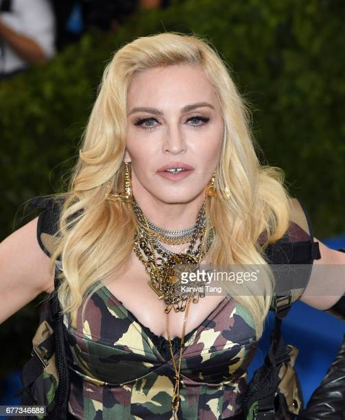 Madonna attends the 'Rei Kawakubo/Comme des Garcons Art Of The InBetween' Costume Institute Gala at the Metropolitan Museum of Art on May 1 2017 in...