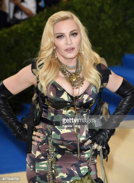 "Madonna attends the ""Rei Kawakubo/Comme des Garcons: Art Of The In-Between"" Costume Institute Gala at the Metropolitan Museum of Art on May 1, 2017..."