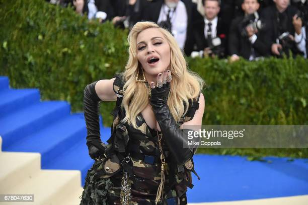 "Madonna attends the ""Rei Kawakubo/Comme des Garcons: Art Of The In-Between"" Costume Institute Gala at Metropolitan Museum of Art on May 1, 2017 in..."