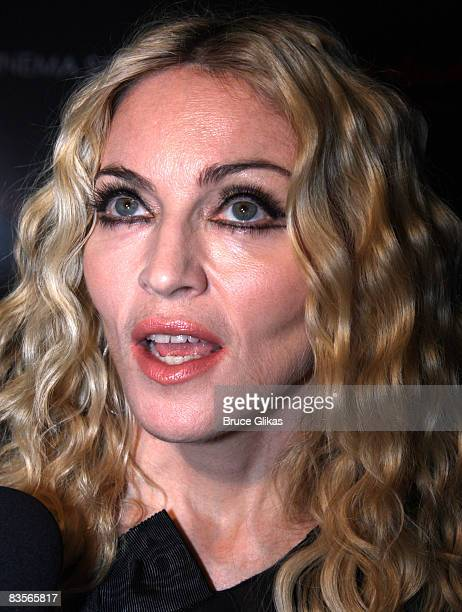 Madonna attends the screening of Filth and Wisdom hosted by The Cinema Society and Dolce and Gabbana at the Sunshine IFC Center on October 13 2008 in...