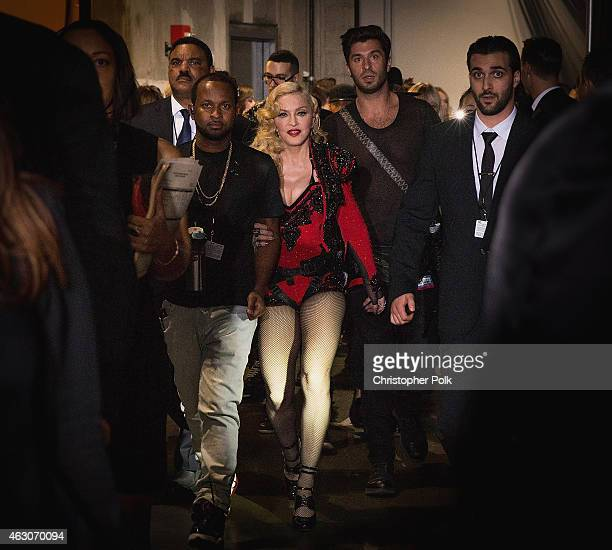 Madonna attends the The 57th Annual GRAMMY Awards on February 8 2015 in Los Angeles California