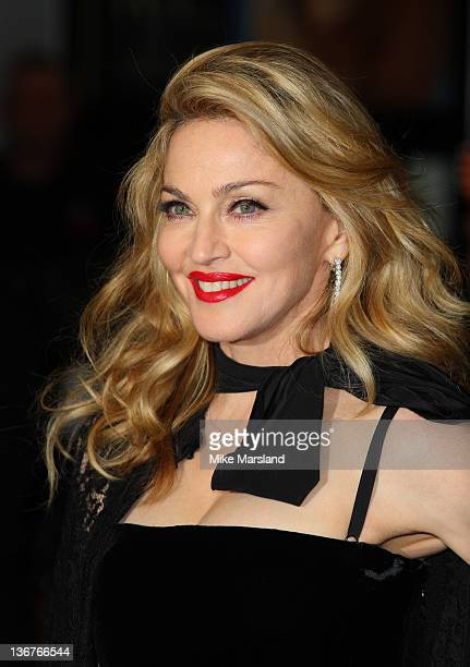 Madonna attends the UK premiere of W.E. At ODEON Kensington on January 11, 2012 in London, England.