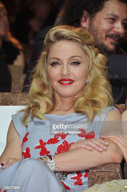 Madonna attends the WE premiere at the Palazzo Del Cinema during the 68th Venice Film Festival on September 1 2011 in Venice Italy