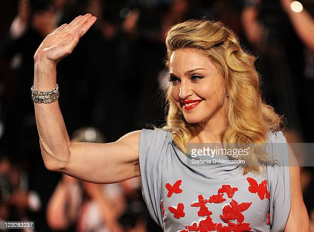 """Madonna attends the """"W.E."""" premiere at the Palazzo Del Cinema during the 68th Venice Film Festival on September 1, 2011 in Venice, Italy."""