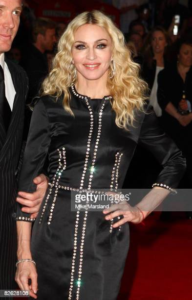 Madonna attends the world premiere of RocknRolla at Odeon West End on September 1 2008 in London England