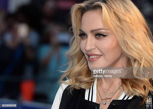 Madonna attends the World premiere of 'The Beatles Eight Days A Week The Touring Years' at Odeon Leicester Square on September 15 2016 in London...