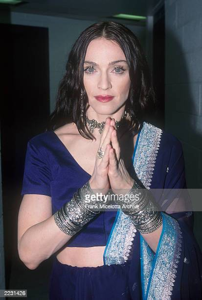 Madonna backstage at the 1998 VH1 Vogue Fashion Awards in New York City