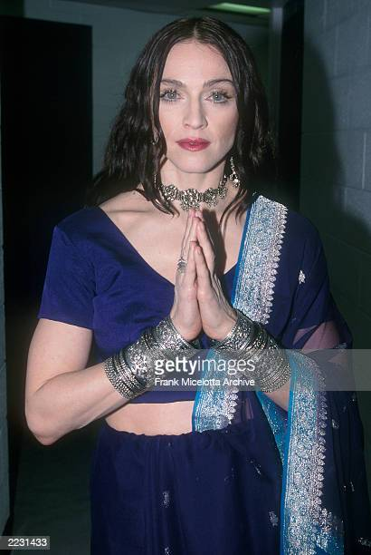 Madonna backstage at the 1998 VH1 Vogue Fashion Awards in New York City. Photo by Frank Micelotta/ImageDirect