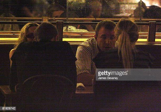NEW YORK DECEMBER 08 Madonna Chris Martin Guy Ritchie and Gwyneth Paltrow sighting at Morandi restaurant on December 8 2007 in New York City New York