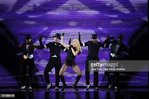 """Madonna concert debuts her """"Sticky & Sweet"""" tour at the Izod Center in East Rutherford, NJ."""