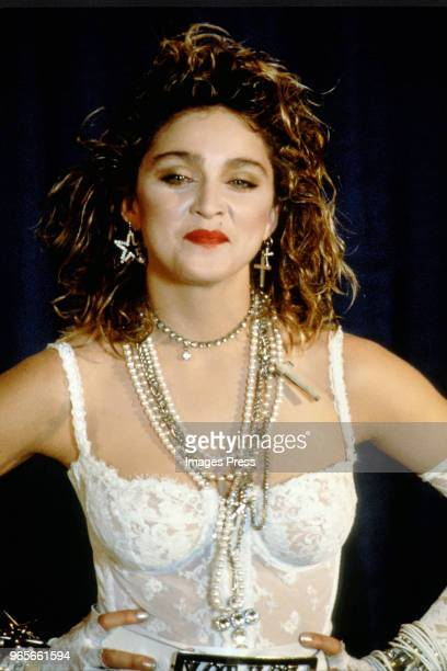Madonna concert during a performance at MTV Video Awards on September 16 1984