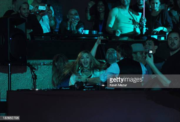 Madonna dances with DJ Producer Martin Solveig at The Smirnoff Nightlife Exchange Project