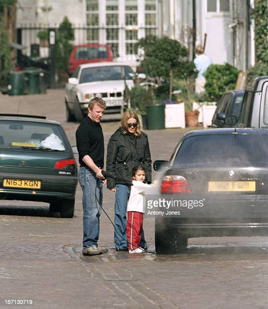 Madonna Daughter Lourdes Help Guy Ritchie Wash His Car Outside Their Home In London