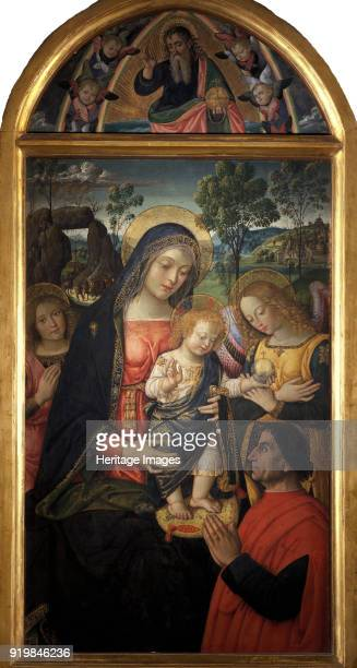Madonna della Pace ca 1489 Found in the collection of Pinacoteca civica TacchiVenturi di San Severino MarcheFine Art Images/Heritage Images/Getty...
