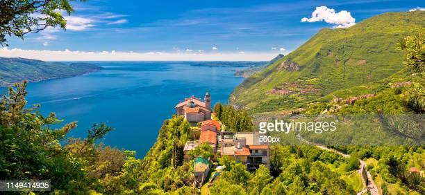 madonna di montecastello hermitage above lago di garda - saint jean cap ferrat stock pictures, royalty-free photos & images
