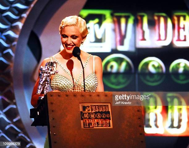 Madonna during 1994 MTV Video Music Awards at Radio City Music Hall in New York City New York United States