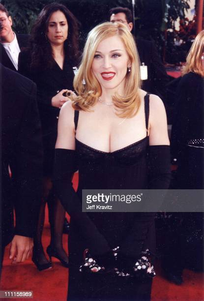 Madonna during 1997 Golden Globe Awards in Los Angeles, California, United States.