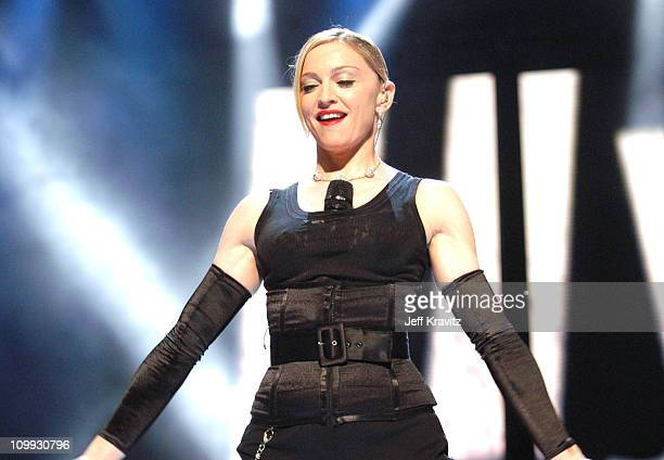 Madonna during 2003 MTV Video Music Awards Show at Radio City Music Hall in New York City New York United States