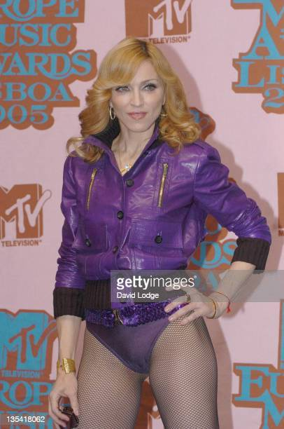 Madonna during 2005 MTV European Music Awards Lisbon Press Room at Atlantic Pavillion in Lisbon Portugal
