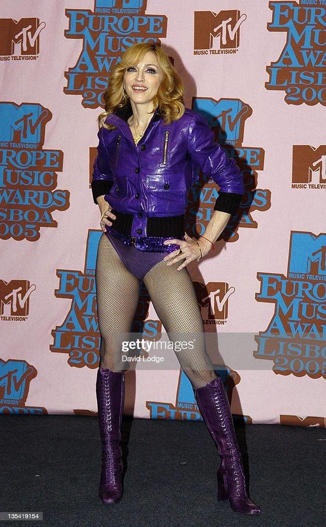 Madonna during 2005 MTV European Music Awards Lisbon - Press Room at Atlantic Pavillion in Lisbon, Portugal.