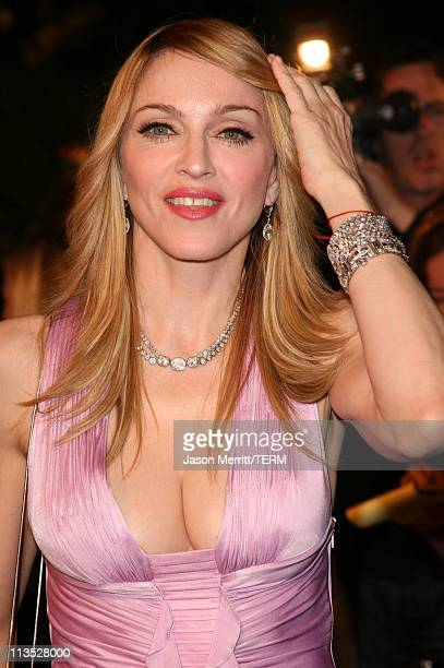 Madonna during 2006 Vanity Fair Oscar Party at Morton's in West Hollywood California United States
