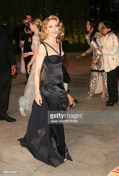 Madonna during 2007 Vanity Fair Oscar Party Hosted by Graydon Carter at Mortons in West Hollywood California United States